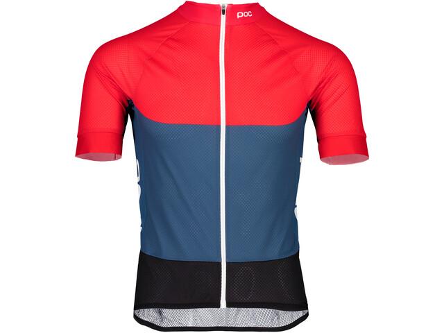 POC Essential Road Kortærmet cykeltrøje Herrer, lead blue/prismane red